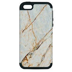 Marble Texture White Pattern Surface Effect Apple Iphone 5 Hardshell Case (pc+silicone)
