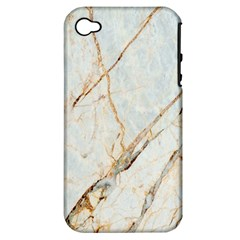 Marble Texture White Pattern Surface Effect Apple Iphone 4/4s Hardshell Case (pc+silicone)
