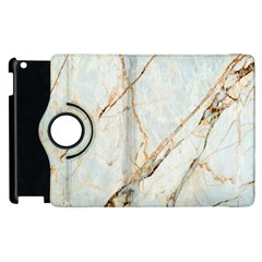 Marble Texture White Pattern Surface Effect Apple Ipad 2 Flip 360 Case