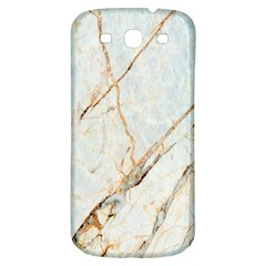 Marble Texture White Pattern Surface Effect Samsung Galaxy S3 S Iii Classic Hardshell Back Case
