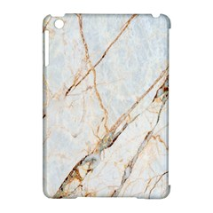 Marble Texture White Pattern Surface Effect Apple Ipad Mini Hardshell Case (compatible With Smart Cover)