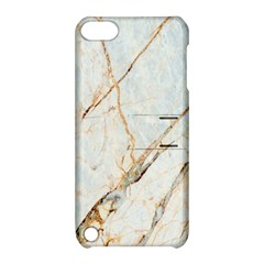 Marble Texture White Pattern Surface Effect Apple Ipod Touch 5 Hardshell Case With Stand