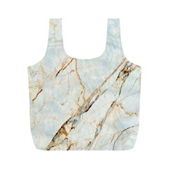 Marble Texture White Pattern Surface Effect Full Print Recycle Bags (m)