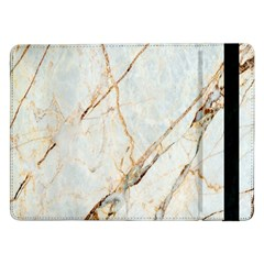 Marble Texture White Pattern Surface Effect Samsung Galaxy Tab Pro 12 2  Flip Case