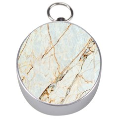 Marble Texture White Pattern Surface Effect Silver Compasses