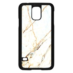 Marble Texture White Pattern Surface Effect Samsung Galaxy S5 Case (black)