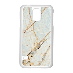 Marble Texture White Pattern Surface Effect Samsung Galaxy S5 Case (white)