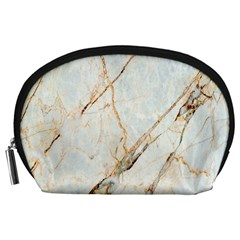 Marble Texture White Pattern Surface Effect Accessory Pouches (large)