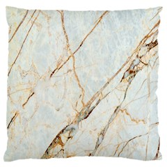 Marble Texture White Pattern Surface Effect Standard Flano Cushion Case (two Sides)