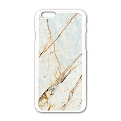 Marble Texture White Pattern Surface Effect Apple Iphone 6/6s White Enamel Case