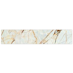 Marble Texture White Pattern Surface Effect Flano Scarf (small)