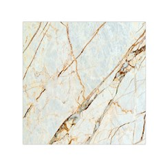 Marble Texture White Pattern Surface Effect Small Satin Scarf (square)