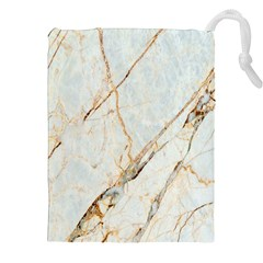 Marble Texture White Pattern Surface Effect Drawstring Pouches (xxl)