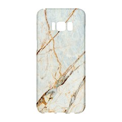 Marble Texture White Pattern Surface Effect Samsung Galaxy S8 Hardshell Case