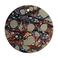 Marbling Ornament (round)