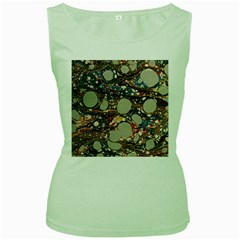 Marbling Women s Green Tank Top