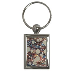 Marbling Key Chains (rectangle)