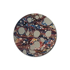 Marbling Rubber Round Coaster (4 Pack)