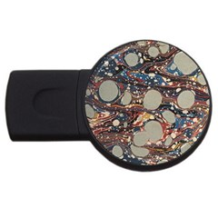 Marbling Usb Flash Drive Round (2 Gb)