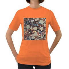 Marbling Women s Dark T Shirt