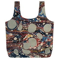 Marbling Full Print Recycle Bags (l)