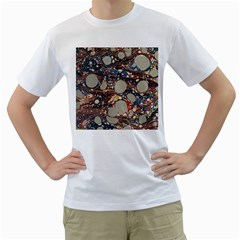 Marbling Men s T Shirt (white)