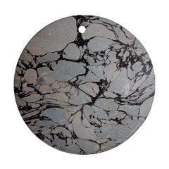 Slate Marble Texture Ornament (round)