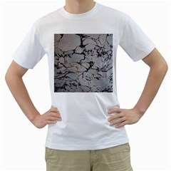 Slate Marble Texture Men s T Shirt (white) (two Sided)