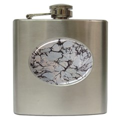 Slate Marble Texture Hip Flask (6 Oz)