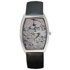 Slate Marble Texture Barrel Style Metal Watch