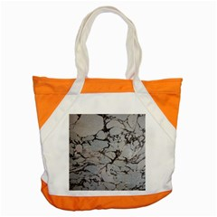Slate Marble Texture Accent Tote Bag