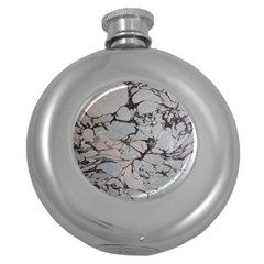 Slate Marble Texture Round Hip Flask (5 Oz)