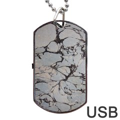 Slate Marble Texture Dog Tag Usb Flash (two Sides)