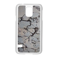 Slate Marble Texture Samsung Galaxy S5 Case (white)