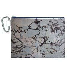 Slate Marble Texture Canvas Cosmetic Bag (xl)