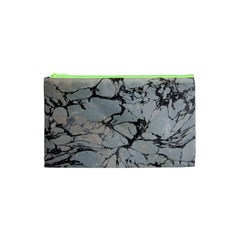 Slate Marble Texture Cosmetic Bag (xs)