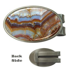 Wall Marble Pattern Texture Money Clips (oval)
