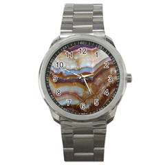 Wall Marble Pattern Texture Sport Metal Watch