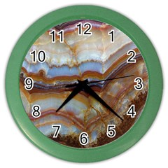 Wall Marble Pattern Texture Color Wall Clocks