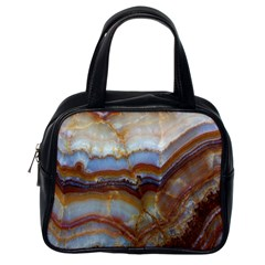 Wall Marble Pattern Texture Classic Handbags (one Side)
