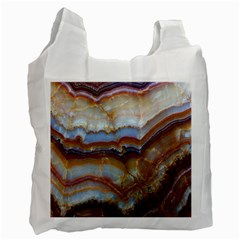 Wall Marble Pattern Texture Recycle Bag (two Side)