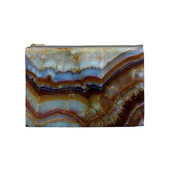 Wall Marble Pattern Texture Cosmetic Bag (medium)