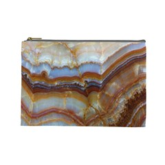 Wall Marble Pattern Texture Cosmetic Bag (large)