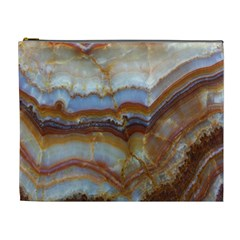 Wall Marble Pattern Texture Cosmetic Bag (xl)