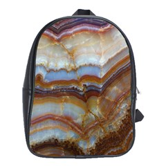 Wall Marble Pattern Texture School Bag (large)
