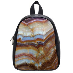 Wall Marble Pattern Texture School Bag (small)