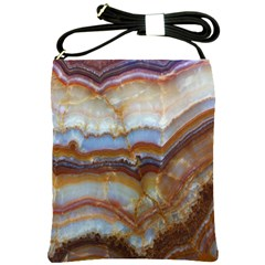 Wall Marble Pattern Texture Shoulder Sling Bags