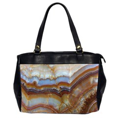 Wall Marble Pattern Texture Office Handbags (2 Sides)