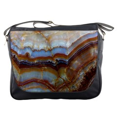 Wall Marble Pattern Texture Messenger Bags