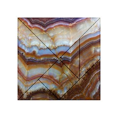 Wall Marble Pattern Texture Acrylic Tangram Puzzle (4  X 4 )